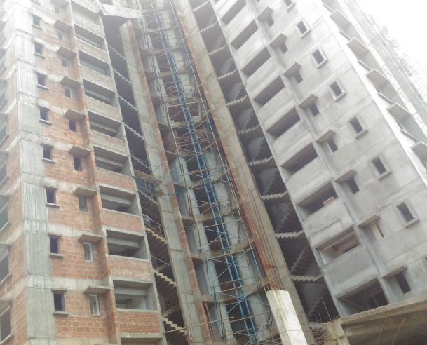 TOWER B - TWO COAT PUTTY & PAPERING WORK COMPLETED UP TO 10 TH FLOOR 01-12-2017