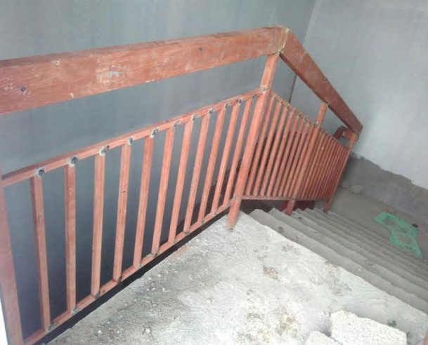 Block A - Fixing of staircase handrail- completed 3-8-16