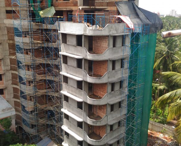 EXTERNAL PLASTERING 10% COMPLETED : 30-06-2018