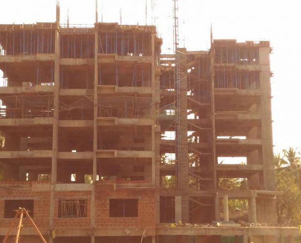 First Floor Laterite Masonry Work is progressing (Nov 2016) Tower B