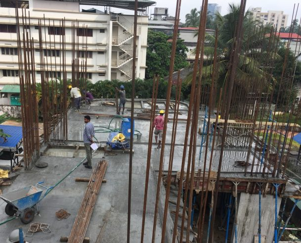 FIRST FLOOR SLAB CASTING - COMPLETED 06.10.2017