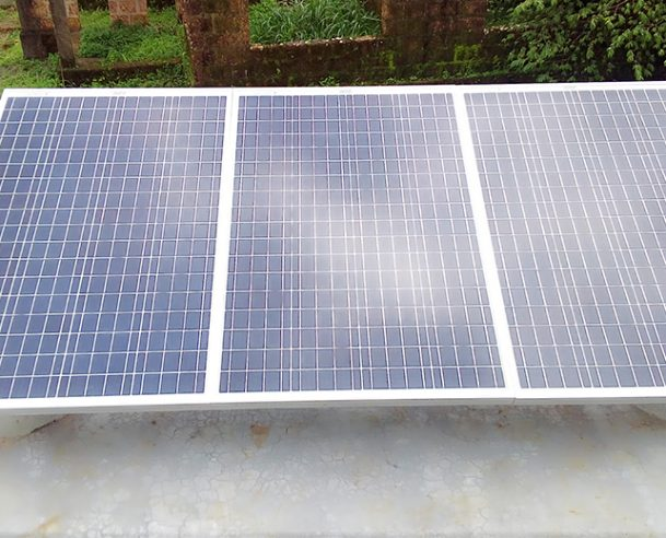 INSTALLATION OF SOLAR PANEL COMPLETED 01/08/17