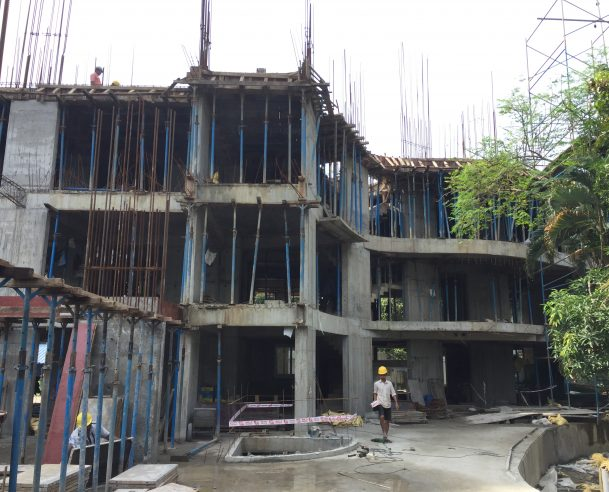 RCC FOR THIRD FLOOR SLAB - 30 % COMPLETED 01.09.2017