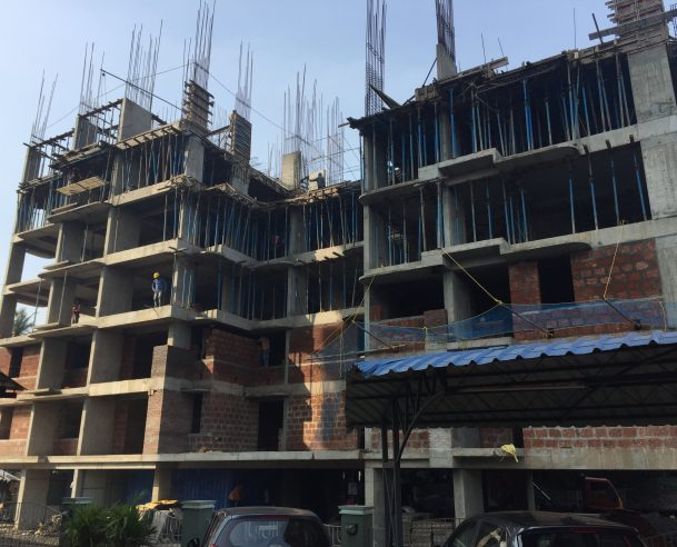 RCC FOR SIXTH SLAB 50 % COMPLETED - 01.12.2017