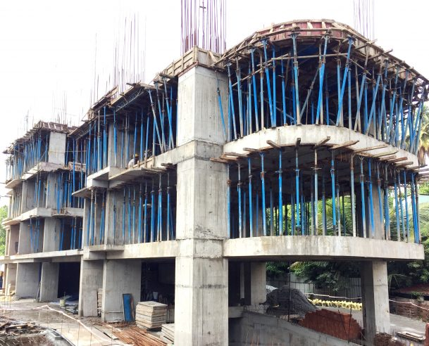 SECOND FLOOR SLAB CASTING COMPLETED - 17.10.2017