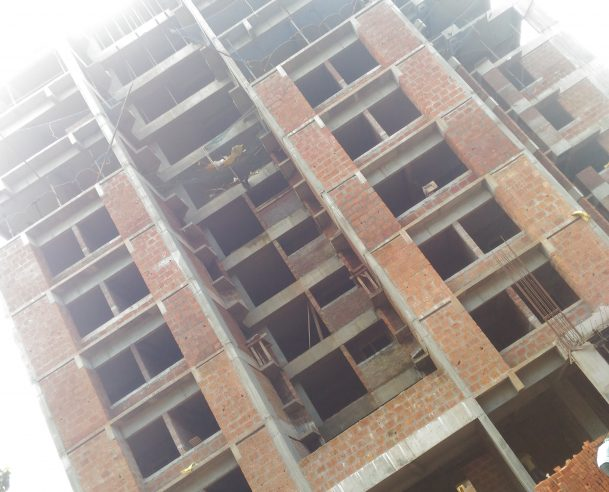 TOWER A - SEVENTH FLOOR CEILING PLASTERING COMPLETED ON 01-12-2017