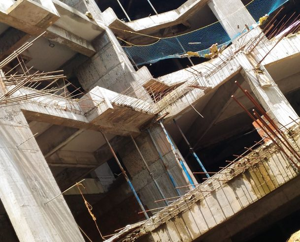 FIFTH FLOOR ROOF SLAB & BEAM 60% COMPLETED TOWER B - 01-10-2017