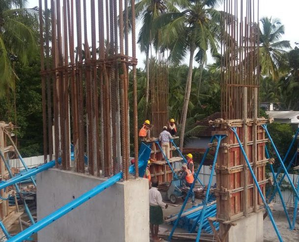 Tower B-basement floor structure has been completed on (3-9-2016)2