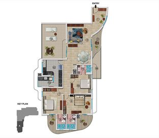 Type A - First Floor 2074 sq.ft - 3BHK