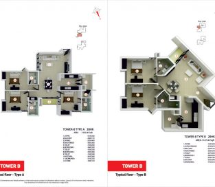 Tower B Typical Floor Type A and Type B