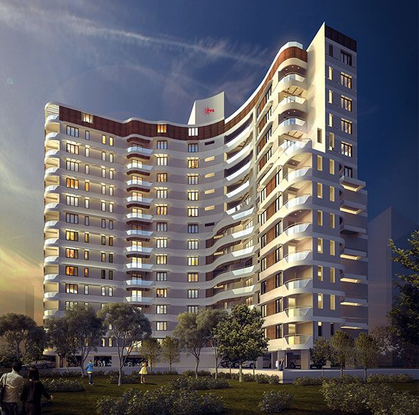 Helix Architecture Design Project Crossroads Parking: Flats & Apartments Near YMCA Cross Road, Calicut, Kozhikode