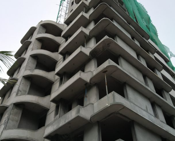 INTERNAL PLASTERING UP TO 5TH FLOOR  & ELECTRICAL METAL BOX FIXING & POINT WIRING UP TO 6TH FLOOR COMPLETED: 30-08-2018