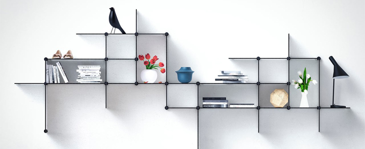 Floating Shelves on the Walls