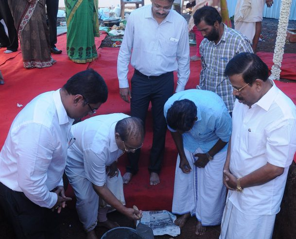 FOUNDATION STONE LAYING BY P.V. CHANDRAN ,KTC GROUP CHAIRMAN 26.06.15