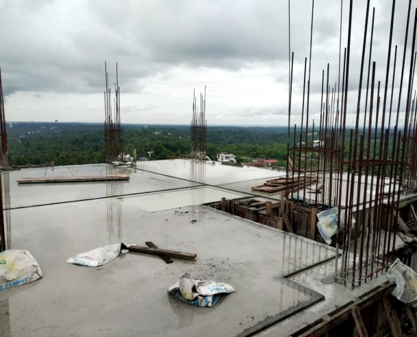12TH FLOOR ROOF SLAB CASTING COMPLETED