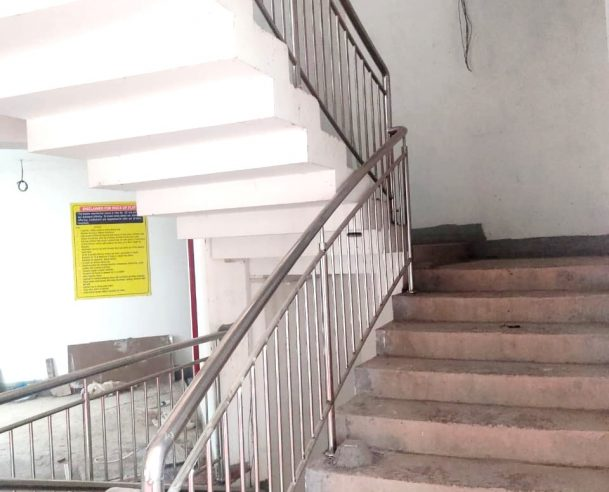 SS HANDRAIL WORK COMPLETED 2ND FLOOR TO 14TH FLOOR : 28-02-2021