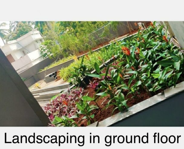 LANDSCAPING IN GROUND FLOOR : 31-01-2021