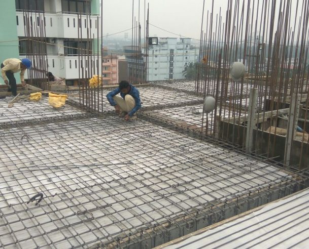 8TH FLOOR SLAB CONCRETING COMPLETED 10-02-2018