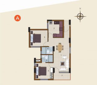A-1st Floor to 10th Floor (2BHK)