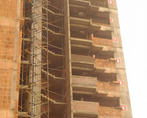 B TOWER 12 FLOOR ROOF SLAB WORK COMPLETED ON 23.03.17
