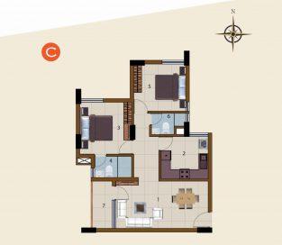 C-1st Floor to 10th Floor (2BHK)