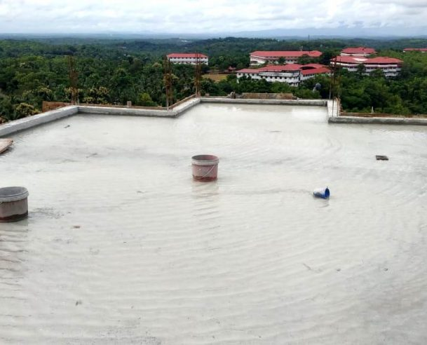 CONCRETING OF TERRACE FLOOR SLAB (FIRST PORTION) COMPLETED : 31-07-2020