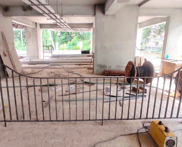 FABRICATION OF COMPOUND WALL GRILL : 30-04-2021