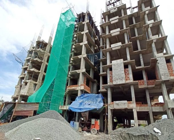 REBAR CUTTING, BENDING AND TYING FOR SEVENTH FLOOR ROOF SLAB, BEAM AND COLUMNS [31-10-2019]