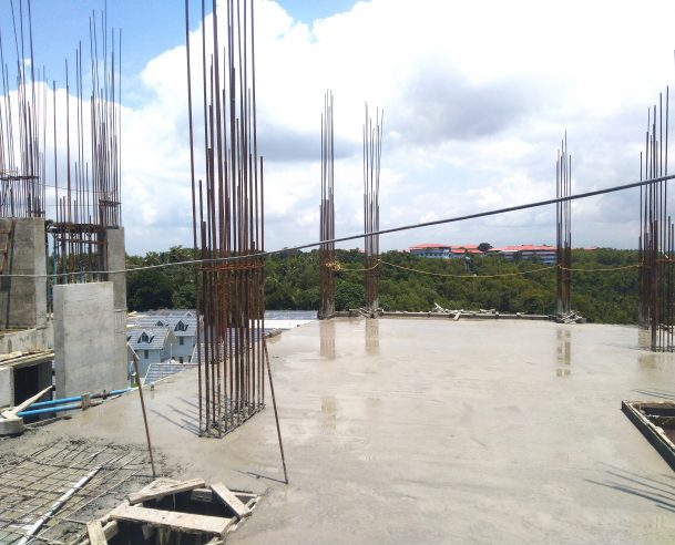 CONCRETING OF SIXTH FLOOR COLUMNS (90% COMPLETED) [30-09-2019]