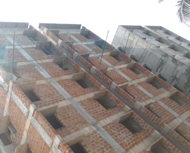 MASONRY WORK 4TH TO 7TH FLOOR COMPLETED ON 15-02-2018