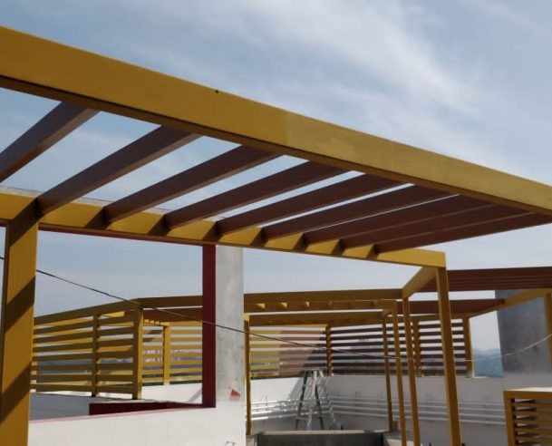 PAINTING OF TERRACE PERGOLA : 30-11-2020