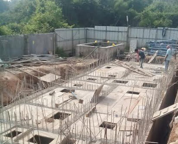 Shuttering for cover slab of STP (Oct 2016)