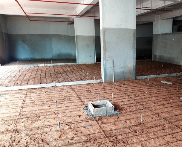 STEEL REINFORCEMENT WORK IN BASEMENT FLOOR 31-08-2019