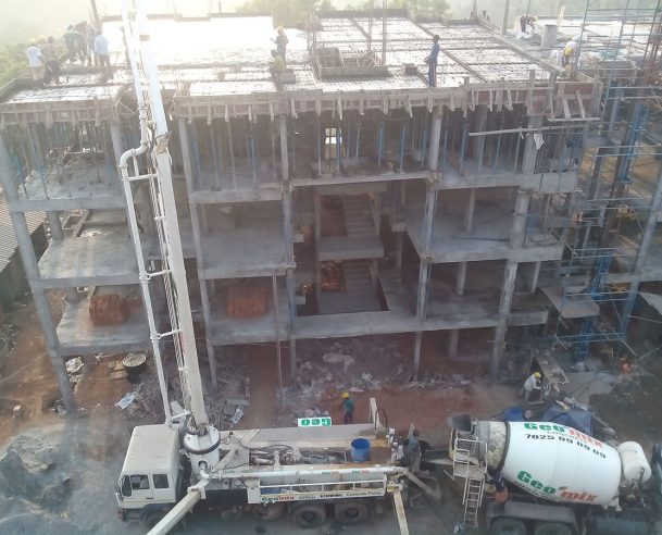 STRUCTURAL WORK OF 3 RD FLOOR C BLOCK COMPLETED- 09-03-16