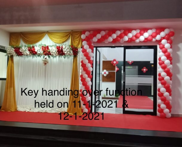 KEY HANDING OVER FUNCTION HELD ON 11-01-2021 & 12-01-2021