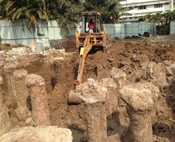 PILING WORK COMPLETED ON 16.01.2017