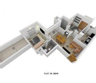 Flat 1B 2BHK