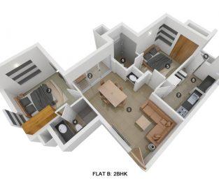 Flat B 2BHK