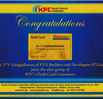 K F C Gold Card